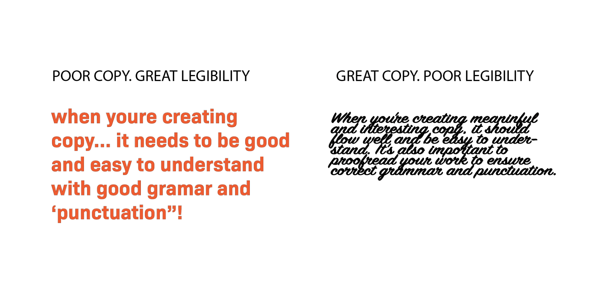 Copywriting for Readability