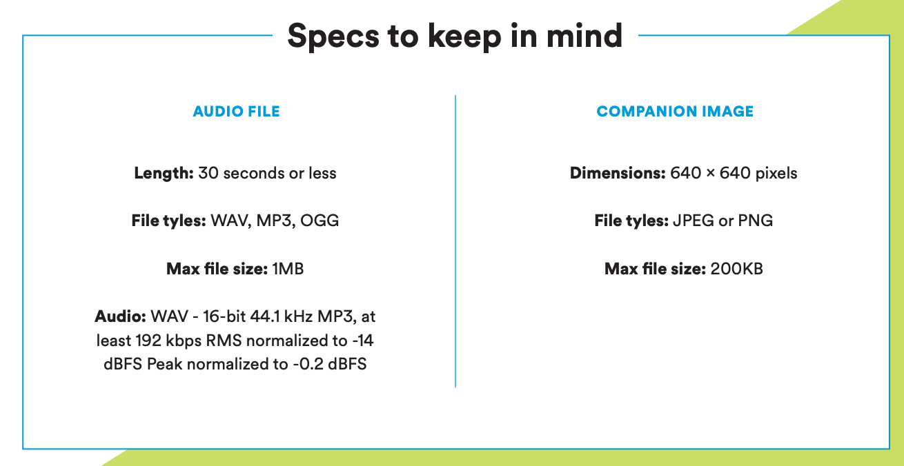 specs to keep in mind