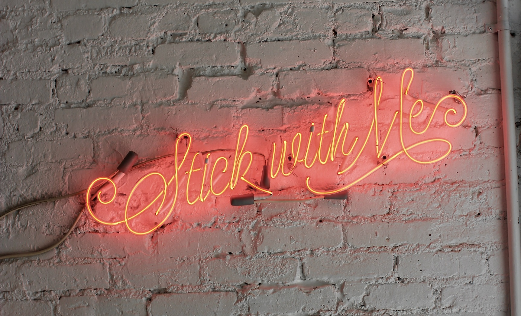 stick with me in neon letters
