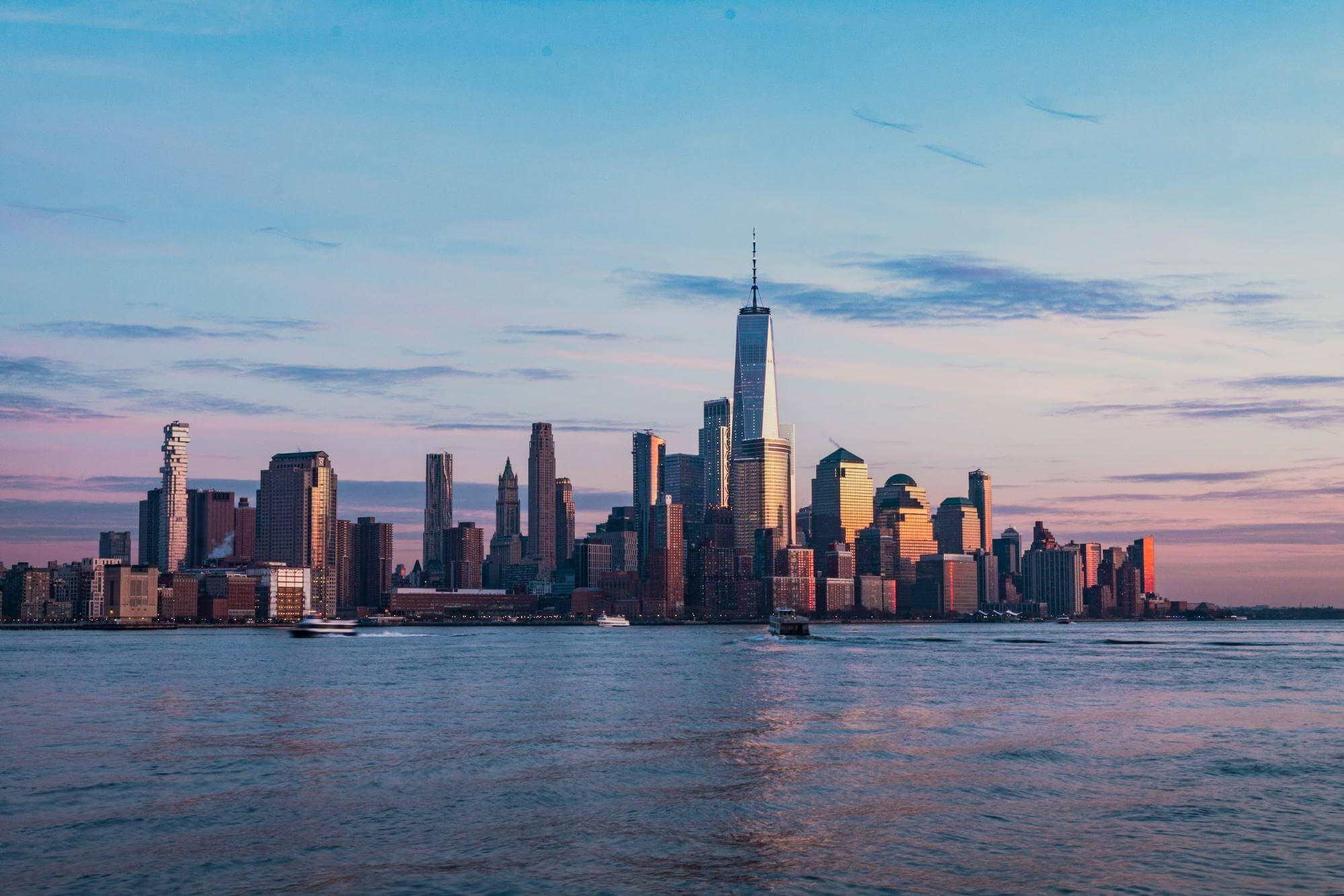 A Photo of Manhattan Island at Sunrise