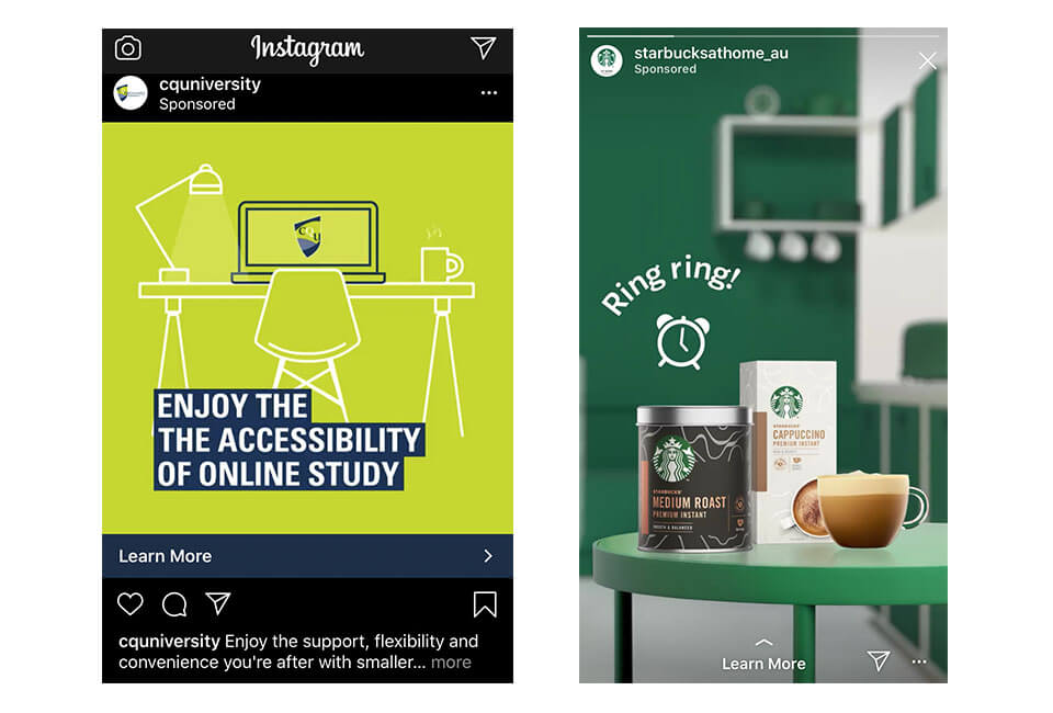 Instagram Feed Ads and story Ads