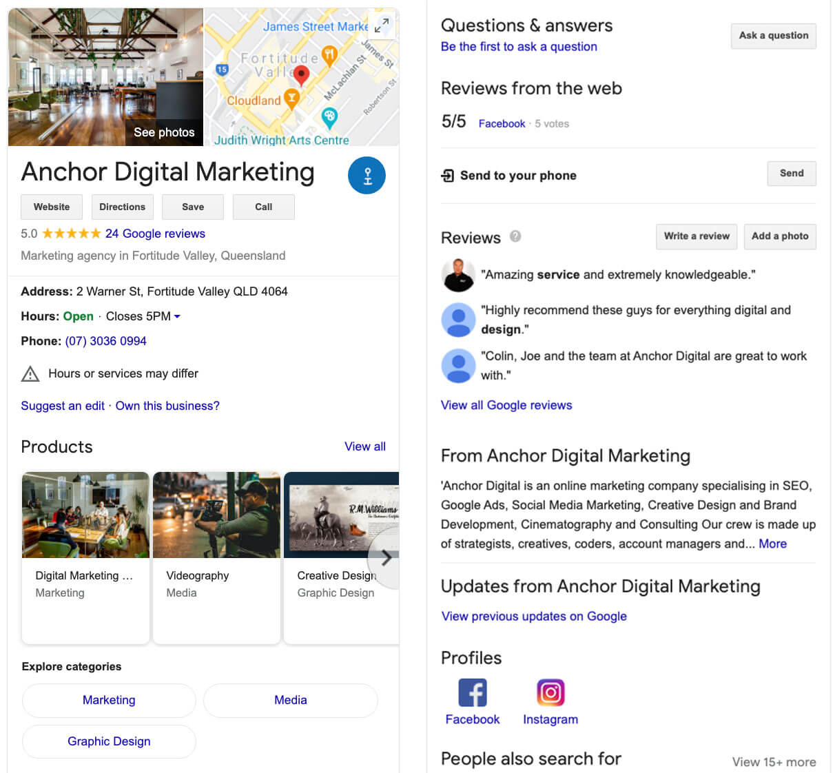 Anchor digital marketing google review