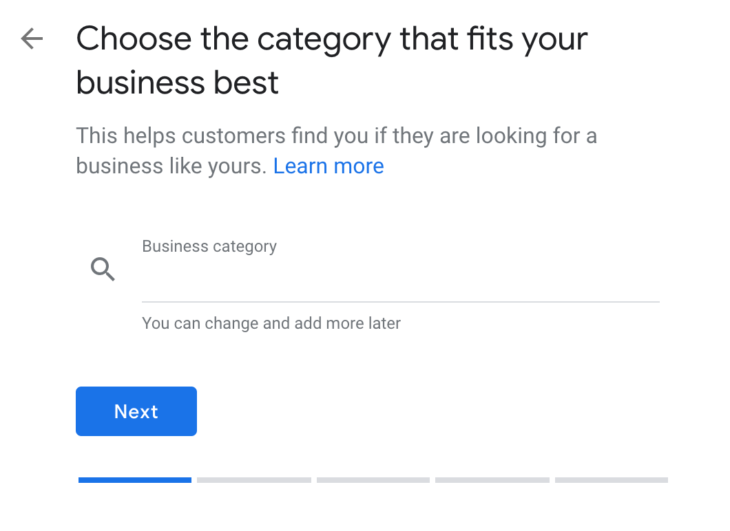 choose the category