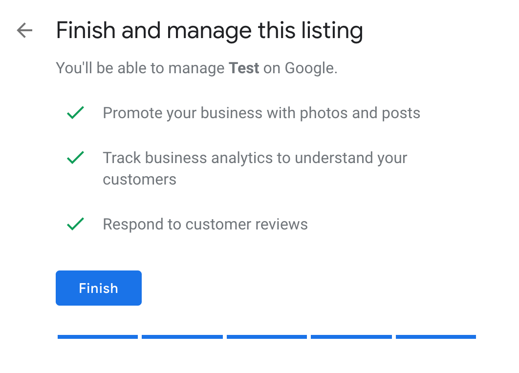 finish and manage this listing