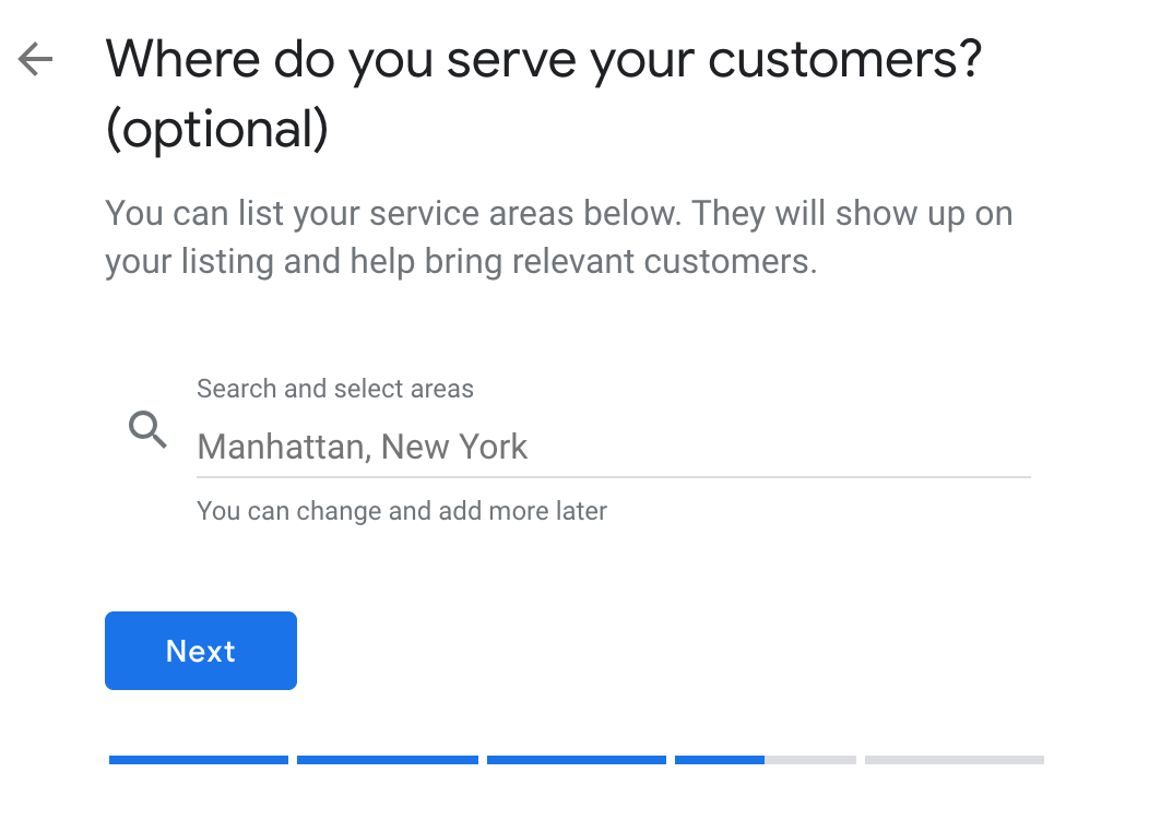 where do you serve your customers