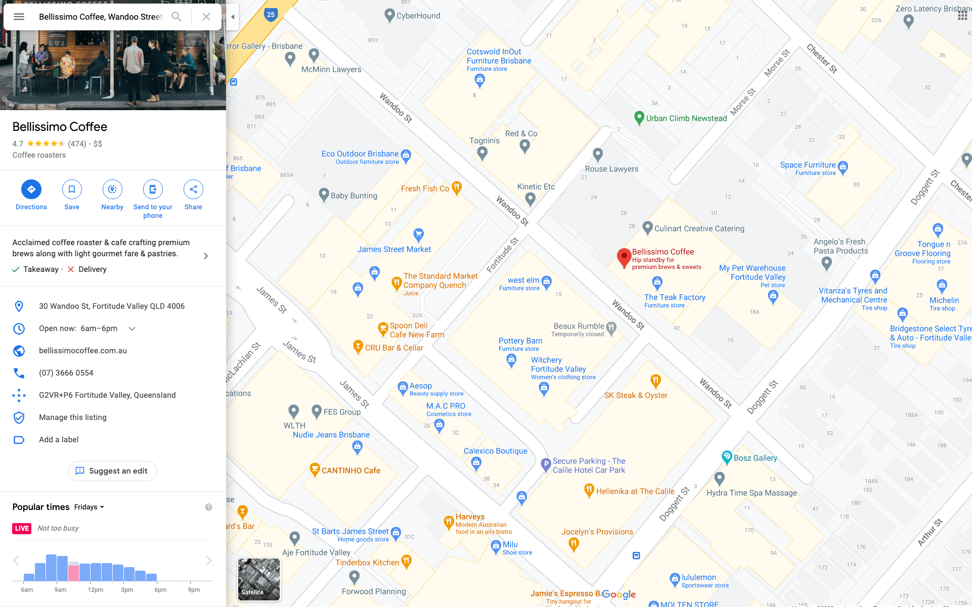 your business on google map