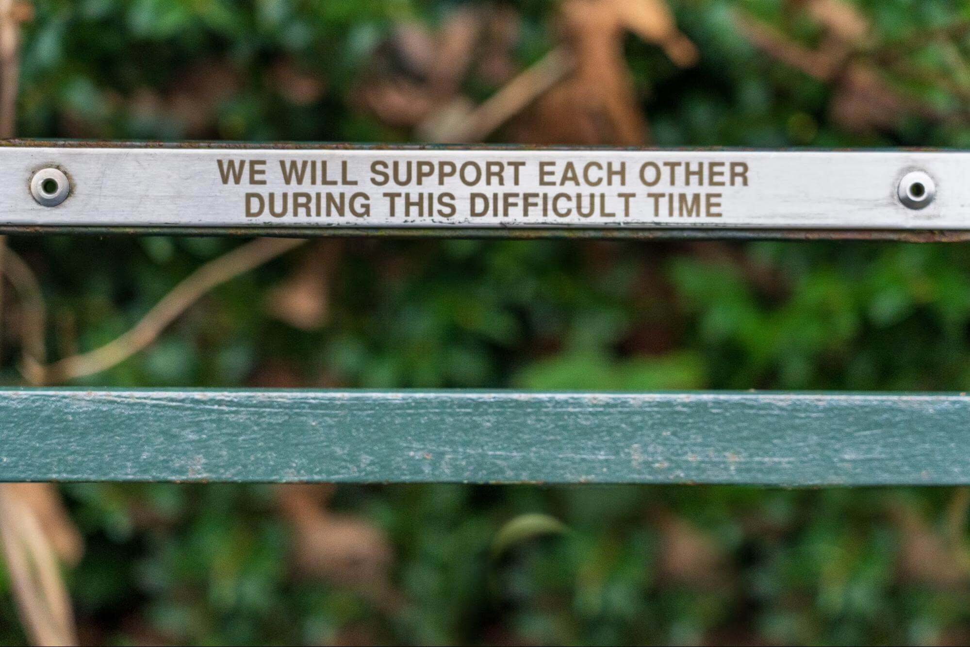we will support each other